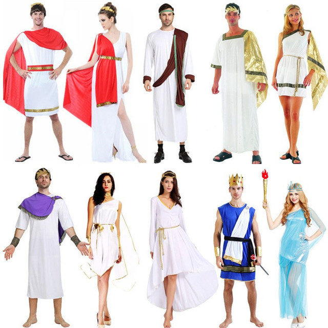 474df324d Adults Ancient Greece Cosplay Costume Goddess Halloween Carnival Costumes  for Women Men Fancy Dress Supplies Christmas