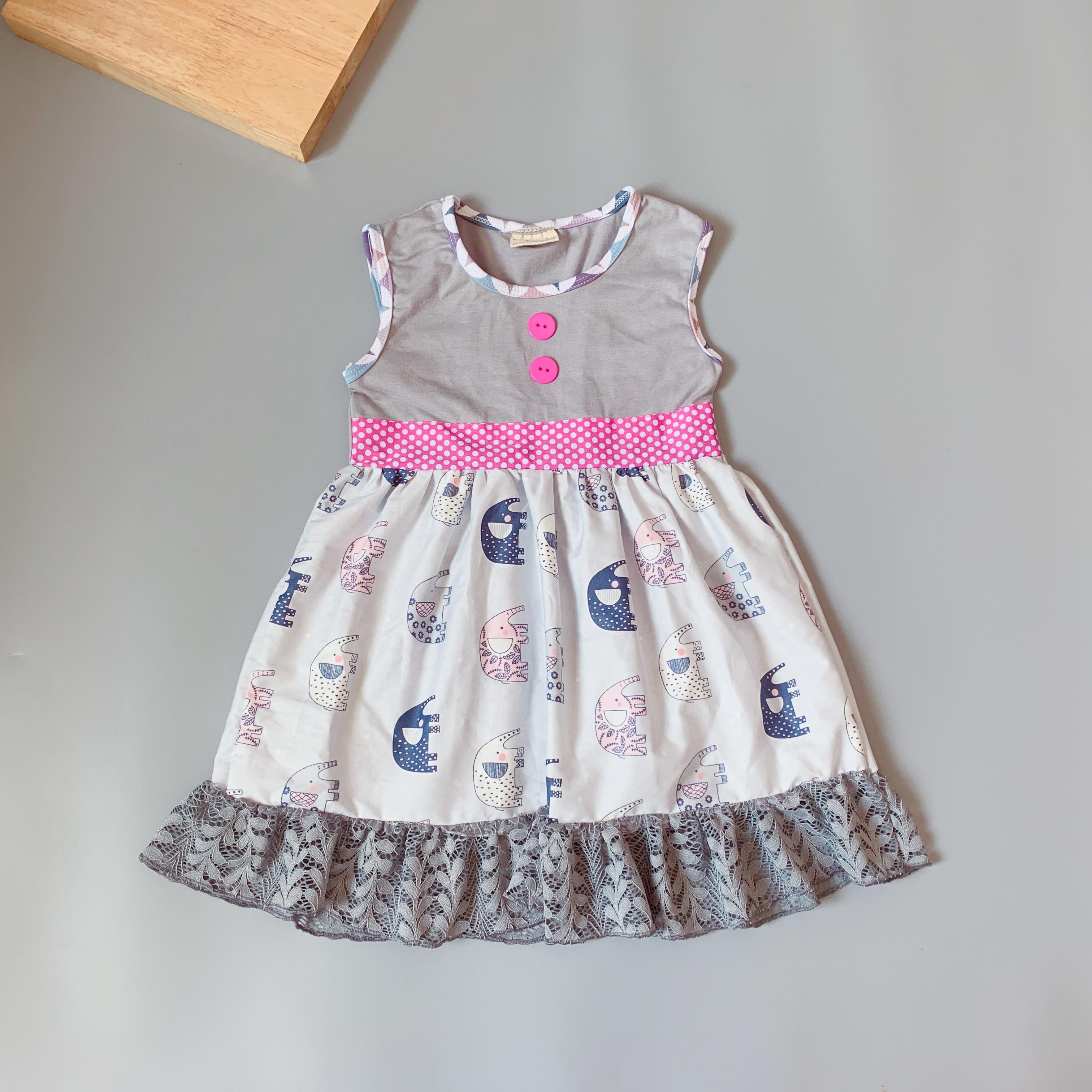 spring summer elephant boutique unique toddler dress
