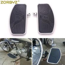 ZORBYZ Motorcycle Floorboard Footboards Footrest Pad For Honda VTX1300 VTX1800 Suzuki VL400 C50