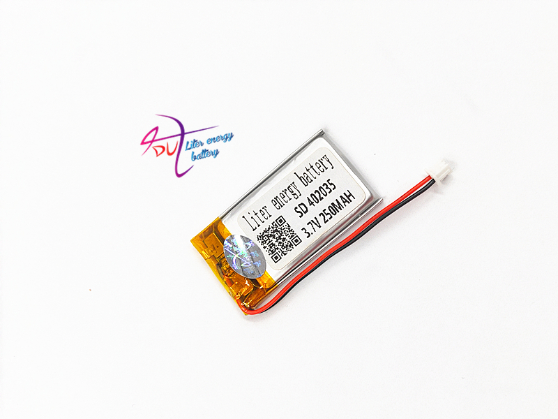 JST 1.5mm 2 pin <font><b>3.7V</b></font> 250mAh <font><b>battery</b></font> <font><b>402035</b></font> Lithium Polymer LiPo Rechargeable Handheld Navigator <font><b>Battery</b></font> Mp3 GPS bluetooth image