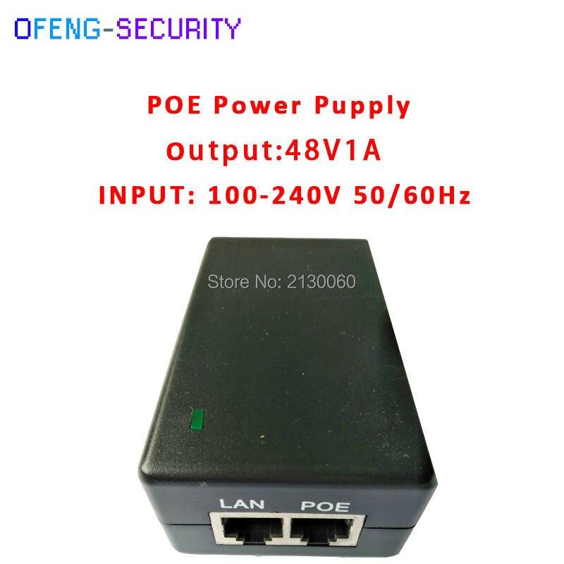 POE Injector 48V1A POE Power Supply POE Injector 48V1A Input 100-240V 50/60Hz POE Pin4/5(+),7/8(-) For CCTV IPC