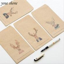 5pcs/Lots Vintage StyLe Elk Head Envelope Kraft Paper Simple Love Letter Cute Good 4 Style For girl YOUE SHONE