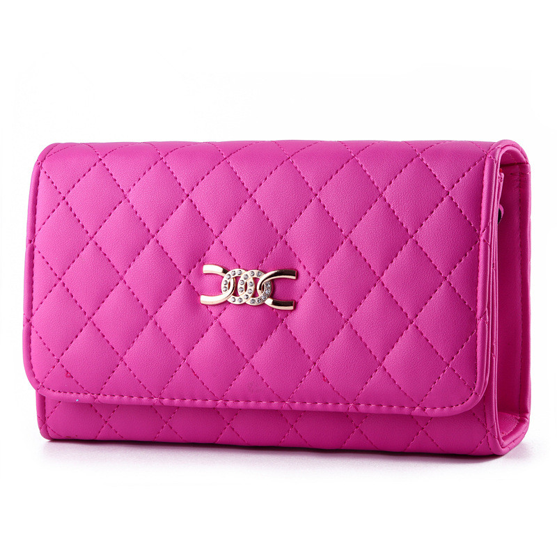 High Quality Fuchsia PU Women Shoulder Bag Rhinestone Handbag Clamshell Crossboday Messenger stoke city burnley