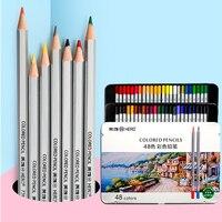 Нетоксичный цветные карандаши профессиональный набор свинца 24/36/48/72 Цвет карандаш для малышей Рисунок Живопись тонкой Цвет ing книги