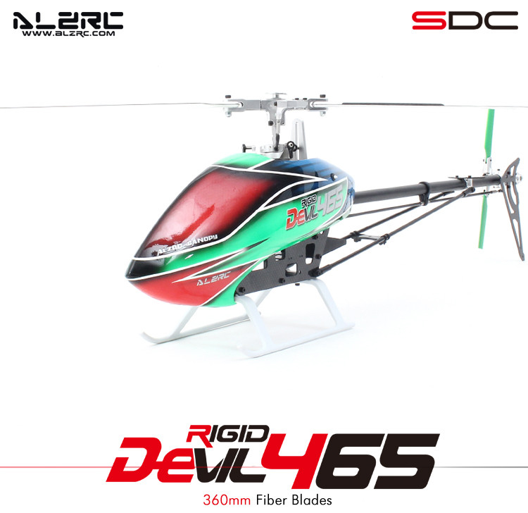 ALZRC - Devil 465 RIGID SDC/DFC KIT Silver/2015- Empty Machine/Standard Combo/Super Combo RC Helicopter drone
