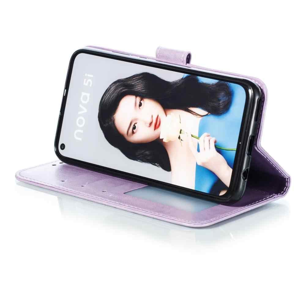 Caso Carteira aleta Para Huawei P20 Lite 2019 Leather Flip Tampa Do Telefone