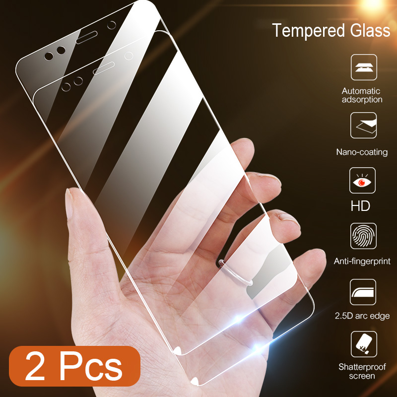 Galleria fotografica 2Pcs Protective Glass for Xiaomi Redmi Note 5 Glass on the Redmi Note 5 Pro Tempered Glass for Redmi Note 5 Pro Screen Protector