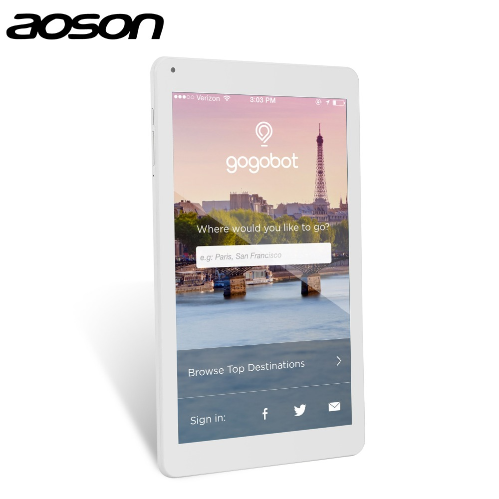 HD 10.1 inch WiFi Tablet PC Aoson M106NB Android 4.4 IPS Screen Quad Core MTK8217 1GB+8GB Camera Rear 5.0MP 6000mAh battery
