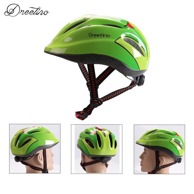 цена на Dreetino Cycling Helmet 2017 Child Bike Helmet Safe Bicycle Helmet Road MTB Bicycle Helmet Kids Cartoon 4 Colors