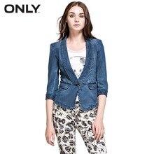 ONLY  осеные женские тонкий старинные джинсовый пиджак женский пальто модные свободного покроя пиджак одна кнопка костюм дамы блейзеры 114355017