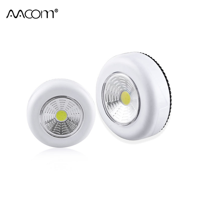 3W COB LED Under Cabinet Lights Touch Control Night Light Easy Install  Cordless AAA Battery Powered LED Luminaria For Closet