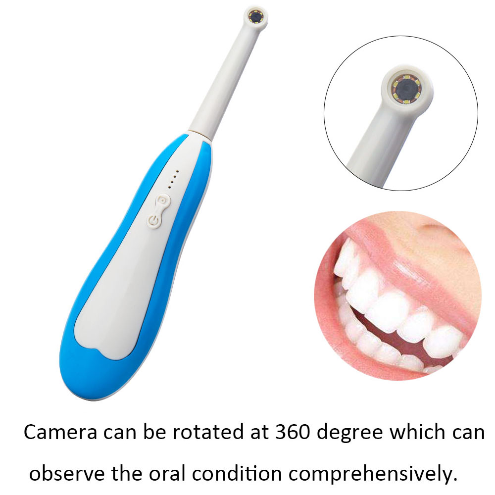 Wireless WiFi HD Intraoral Endoscope Dental Camera LED Light Monitoring Inspection for Dentist Oral Real time