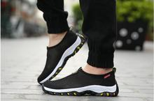 new 2016 men's outdoor  recreational shoe man RUNS shoes breathable mesh cloth shoes