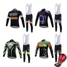 цена на Bicycle clothing long sleeve cycling jersey set men's bib pants pro triathlon suit mtb bike clothes maillot uniform sport outfit