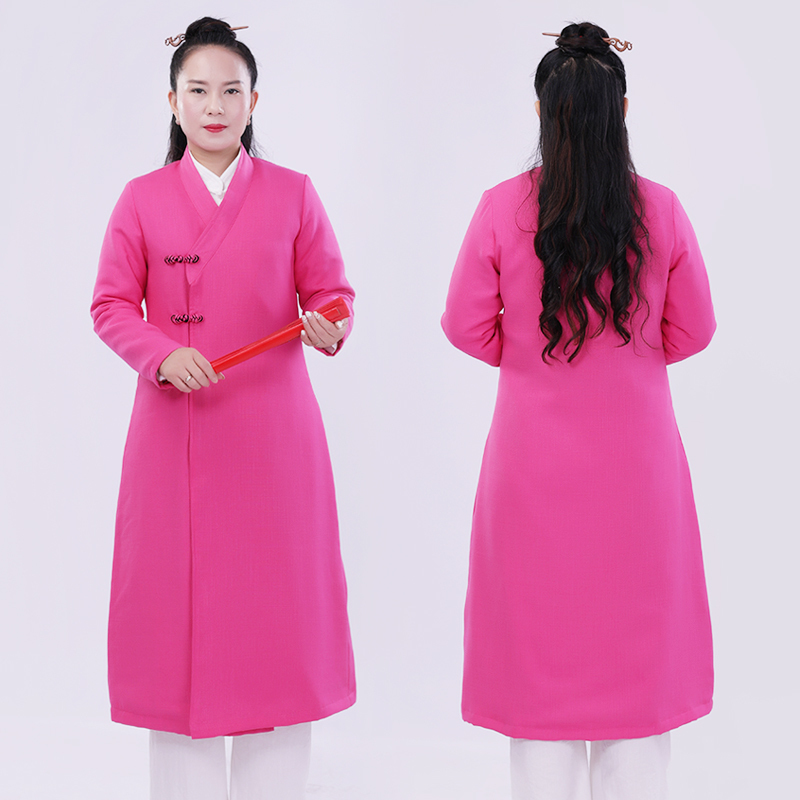 2018 New Pattern Tai Chi Outfits Robe Woman Cotton-padded Coat Kung Fu Clothing Only One Piece Robe For Winter