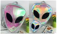 1 шт. треугольник 3D чужой et Глава лица разработан сообщение сумка Красочные Лазерная рюкзак