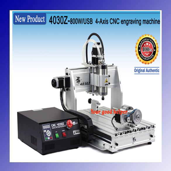 "220V/110V 4 axis New USB Mach3 4030Z 3040 800W CNC Router Engraver Engraving Machine paleo all ""in ""one for dummies"