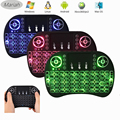 Mini i8 Remote Backlight Wireless Keyboard English 2.4G Fly Air Mouse Multi-Media Remote Control Touchpad For TV BOX NoteBook