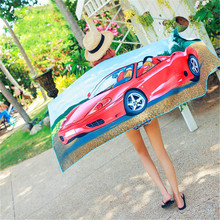 Cartoon Print Beach Towel Increase Microfiber Activity Breat