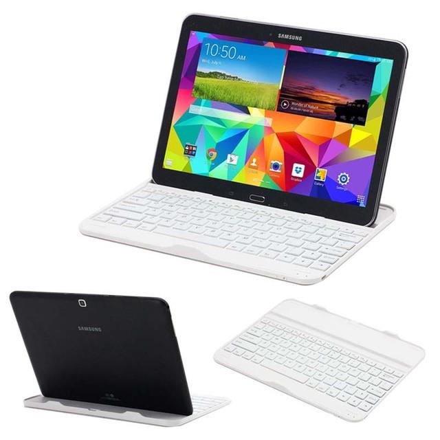 Ultra delgado ruso / hebreo / español Bluetooth Wireless 3.0 del muelle del teclado caso de la cubierta para Samsung Galaxy Tab 4 10.1 T530 T531 T535