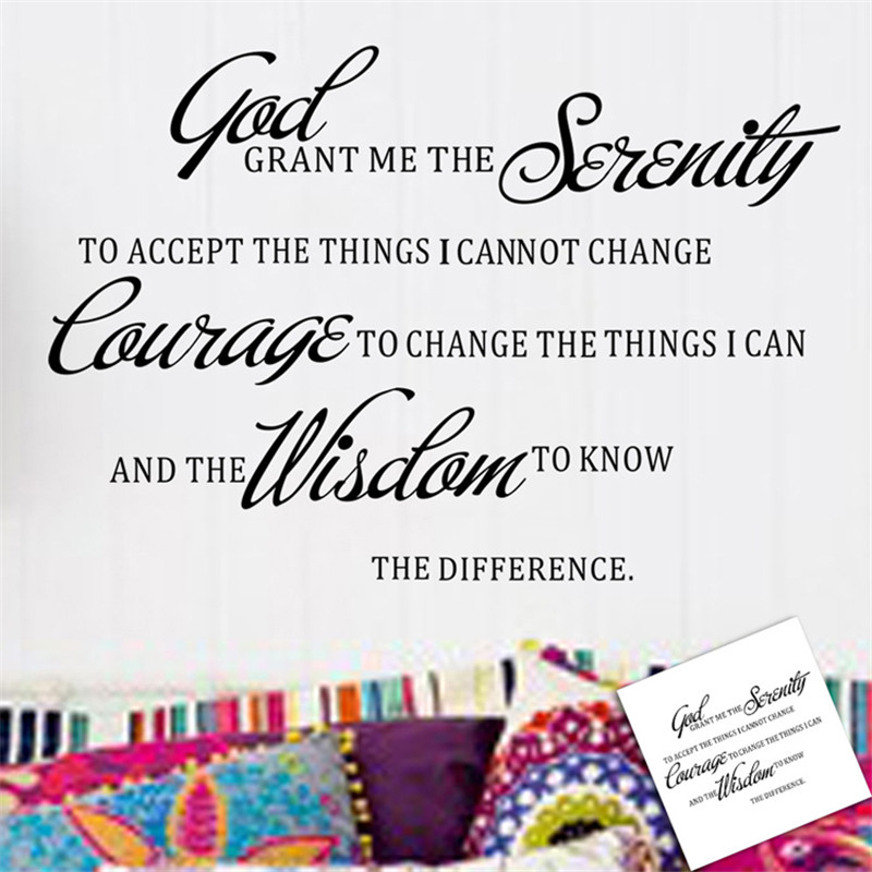 US $1.88 |2016 New GOD GRANT ME THE SERENITY PRAYER BIBLE Art Quote Vinyl  Wall Stickers Decal Home Decor Room Mural Decoration-in Wall Stickers from  ...
