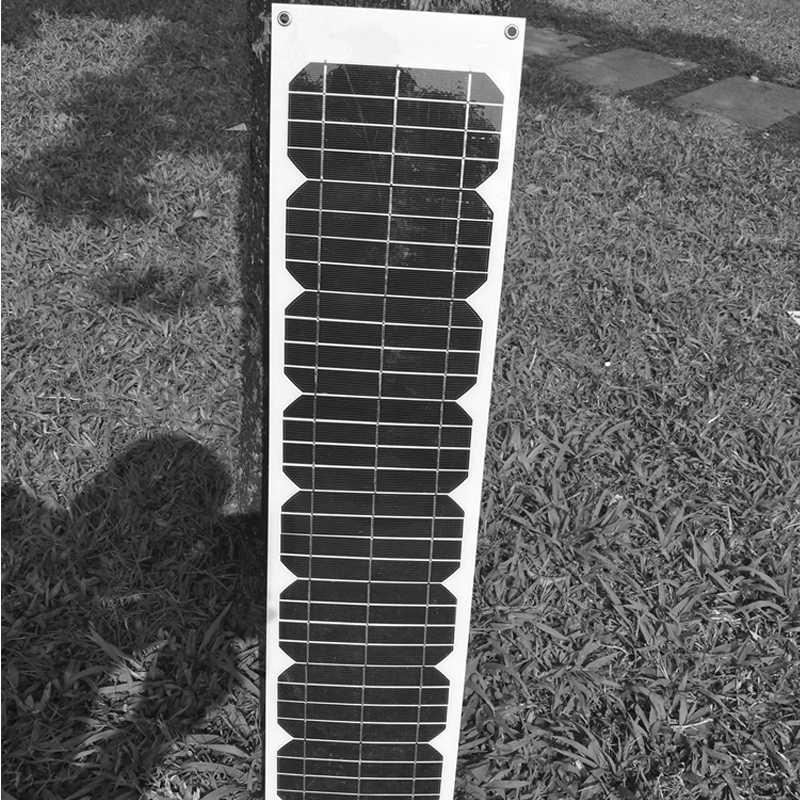 لوحة طاقة شمسية مرنة 12 فولت 20 واط 40 واط 60 واط 80 واط 100 واط الشمسية شاحن بطارية مركب مقاومة للمياه سيارة مخيمات قافلة Rv ضوء الهاتف لحزمة