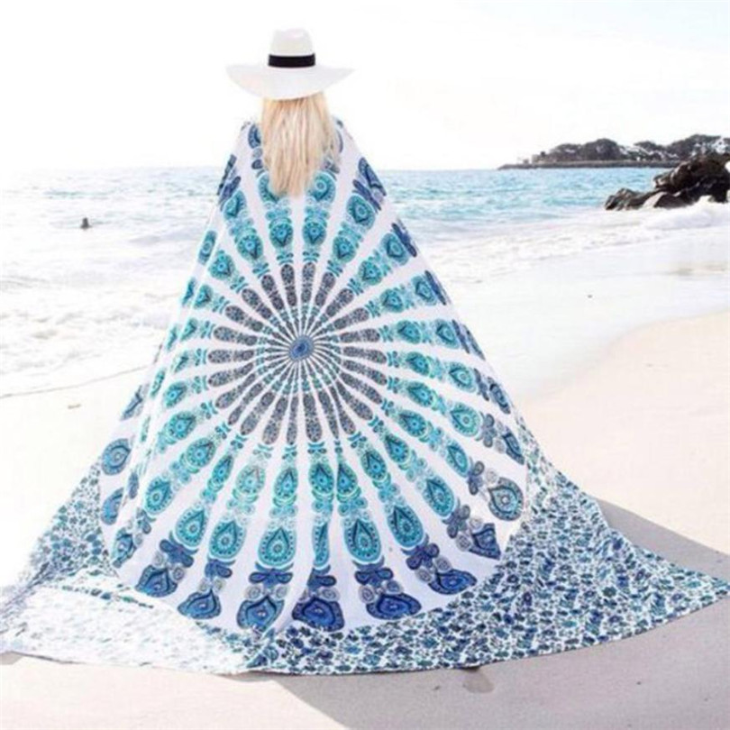 2017 # Durable fashion beach towel Pareo Summer Dress Swimwear Bathing Suit Kimono Tunic Beach Cover Up Bikini Boho