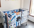 Ups Free Baby crib bedding sets Baseball Sports Baby Boy Cot Crib Bedding Set