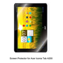 Clear LCD PET Film Anti-Scratch / Touch Responsive Screen Protector Cover for Acer Iconia Tab A200 Tablet Accessories
