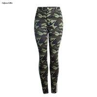 camouflage Military Elastic skinny jeans woman Pencil Pants jeans for women denim pants womens jeans mujer pantalon jean femme