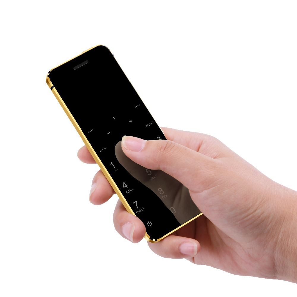 Ultra Slim Card Cellphone Ulcool V36 Metal Body Bluetooth Dialer FM Radio Dual SIM Card Pocket Mobile Phone