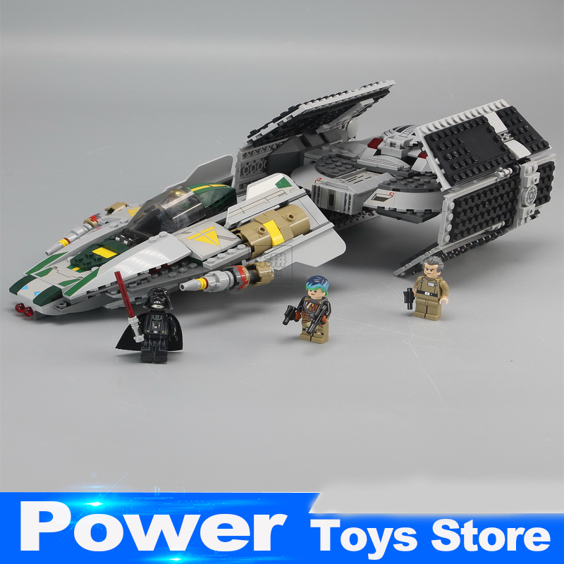 05030 LEPIN 722Pcs Vader Tie Advanced VS A-wing Starfighter 75150 Building Blocks Compatible legoed with STAR WARS Toy 2017 new 1242pcs 05055 lepin star wars vader s tie advanced fighter model building kit figures blocks brick toy compatible 10175