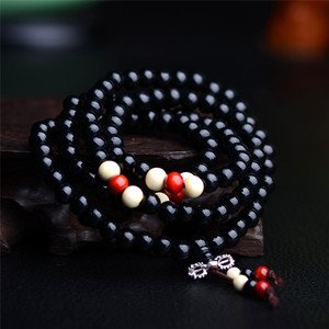 Image 3 - 108 Beads 8mm Natural Sandalwood Buddhist Buddha Wood Prayer Bead Male Unisex Men Bracelets & Bangles Jewelry Bijoux