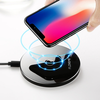 Ultra Thin 10W Qi Portable Wireless Charger For IPhone X 8 Fast Wireless Adapter Pad For