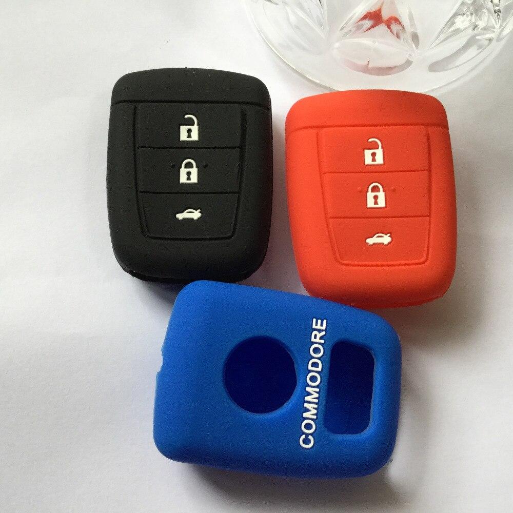 Силиконовый чехол для ключей кожи куртка держатель протектор для Holden Commodore VE 3 Кнопка + паника радиобрелока оболочки. VE ВПГ Чев