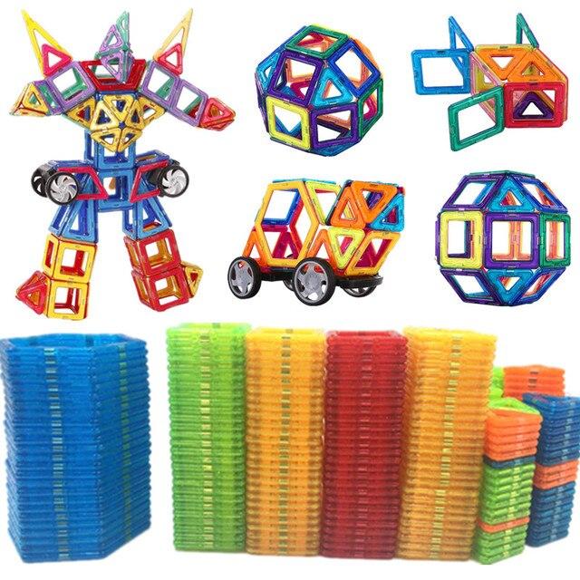 47 129PCS מגנט צעצוע אבני בניין מגנטי בניית סטי מעצב ילדים חינוך פעוט צעצועים לילדים מתנה לחג המולד