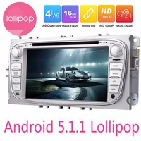 2Din In Dash Android 5.1 Car DVD Player For Ford/Mondeo/Focus With Quad Core Wifi GPS Navigation Radio FM Steering wheel control