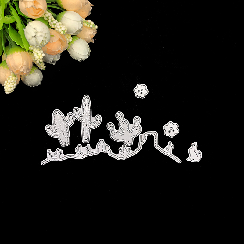 Julyarts Scrapbooking Metal Cutting Dies Cactus Desert Cat Flower DIY Embossing Carbon Steel Punch Knife in Cutting Dies from Home Garden