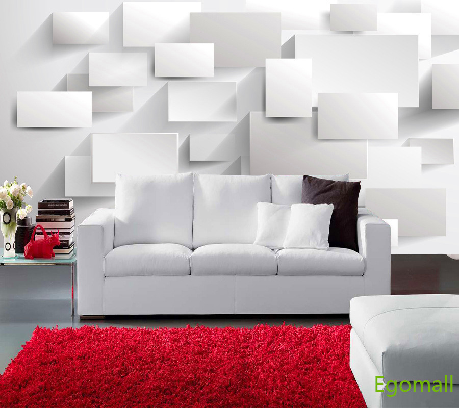 6square 3d wallpaper papel parede 3d wall paper papel de for Living room paper