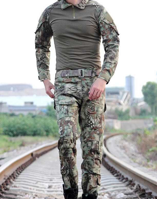 Hot Sale Men Army Military Equipment Airsoft Paintball Shooting Combat Gen2 Tactical Pants Shirts with Knee Elbow Pads