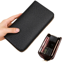 2019 PU Leather Men Wallets Large Capacity Card Holder Wallet Coin Purse Long For