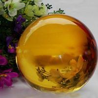 Peradix Clear Asian Rare Natural Quartz Crystal Ball Huge 40mm Stand Home Decor