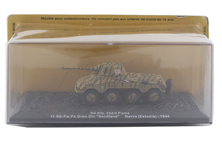 1/72 Germany Sd.Kfz.234/2 the German army Panther wheeled armored vehicle model Alloy collection model Holiday gift av72 1 72 the british ah 1 gulf war av7224005 gazelle helicopter alloy collection model holiday gift