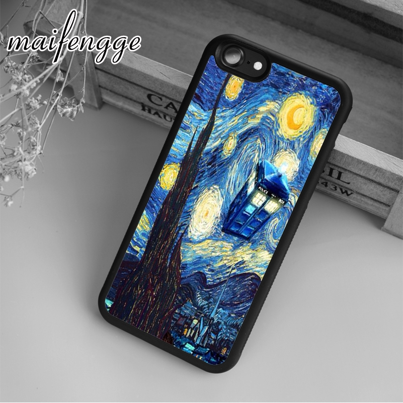 Maifengge Tardis Doctor Who Starry Case For Iphone 6 6s 7 8 Plus X 5 5s Se Case Cover For Samsung S5 S6 S7 Edge S8 Plus Shell Exquisite Craftsmanship; Cellphones & Telecommunications