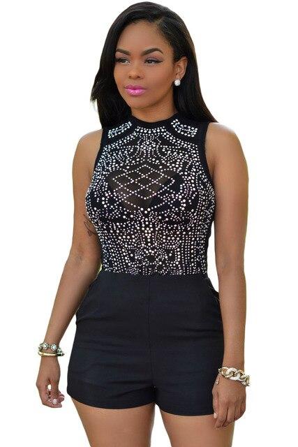 a2c10e99e70209 Glittering strass teddy lingerie 2017 hot sexy african fiore nero  paillettes monopezzo body e pagliaccetti delle