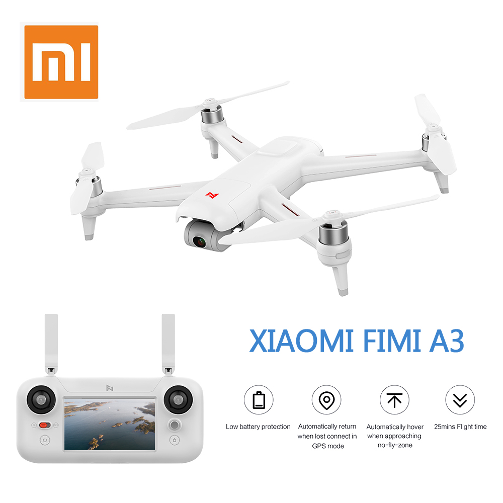 Prevendita Xiaomi FIMI A3 5.8g GPS Drone 1 km FPV 25 Minuti Con 2 assi del Giunto Cardanico 1080 p macchina fotografica RC Quadcopter RTF Modelli Da Corsa