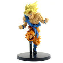 NEW 20cm Dragon Ball Z Goku Figure Toy Son Goku Jump 50th Anniversary Anime DBZ Model Doll Gift for Children Action Figure Toys anime dragon ball z 50th anniversary super saiyan goku pvc action figure doll model toy halloween christmas gift for children