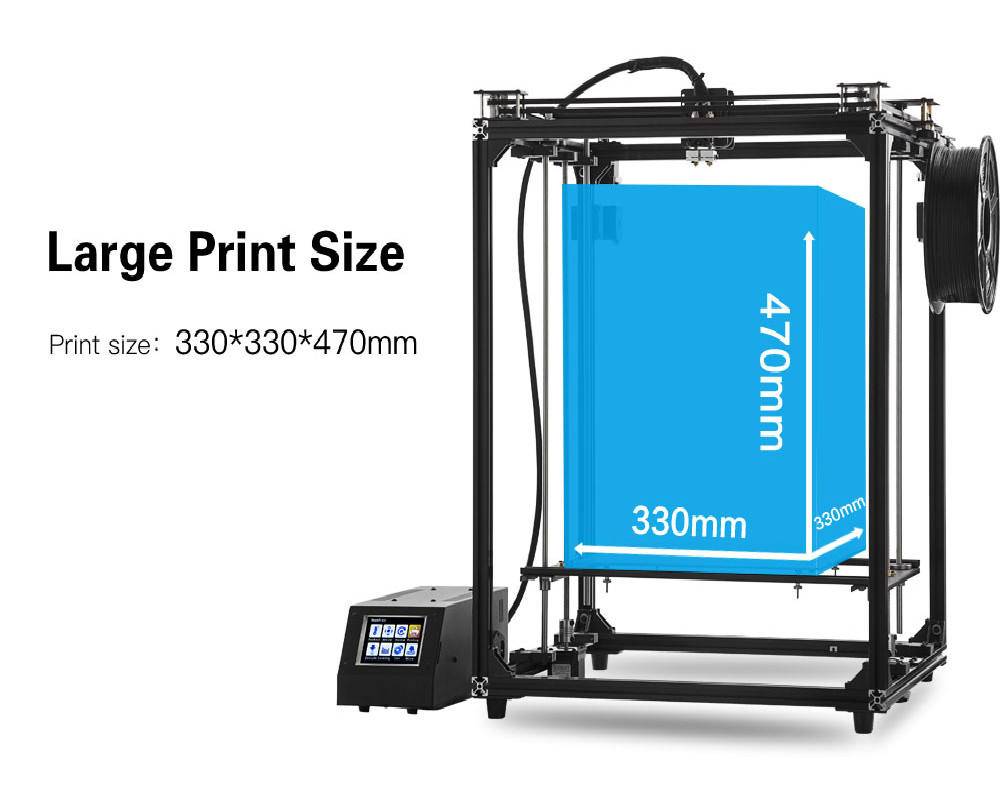 Flsun 3D Printer Pre-sales big printing Size 330*330*470mm Printing Area Touch Screen Double Extruder Wifi Module Metal Frame 2018 flsun i3 3d printer diy kit dual nozzle touch screen large printing size 300 300 420mm two roll filament for gift