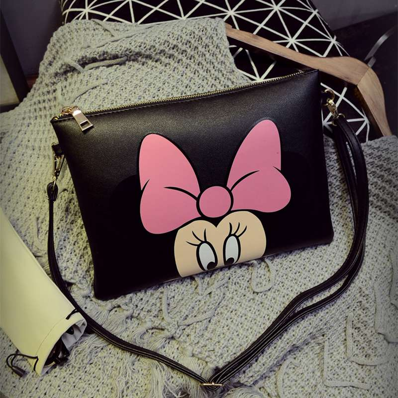 Women Hello Kitty Messenger Bags Minnie Mickey Bag Leather Handbags Clutch Bag Bolsa Feminina mochila Bolsas Female sac a main new cartoon women messenger bags big eyes bag leather handbags ladies clutch bag bolsa feminina bolsas female handbag 45