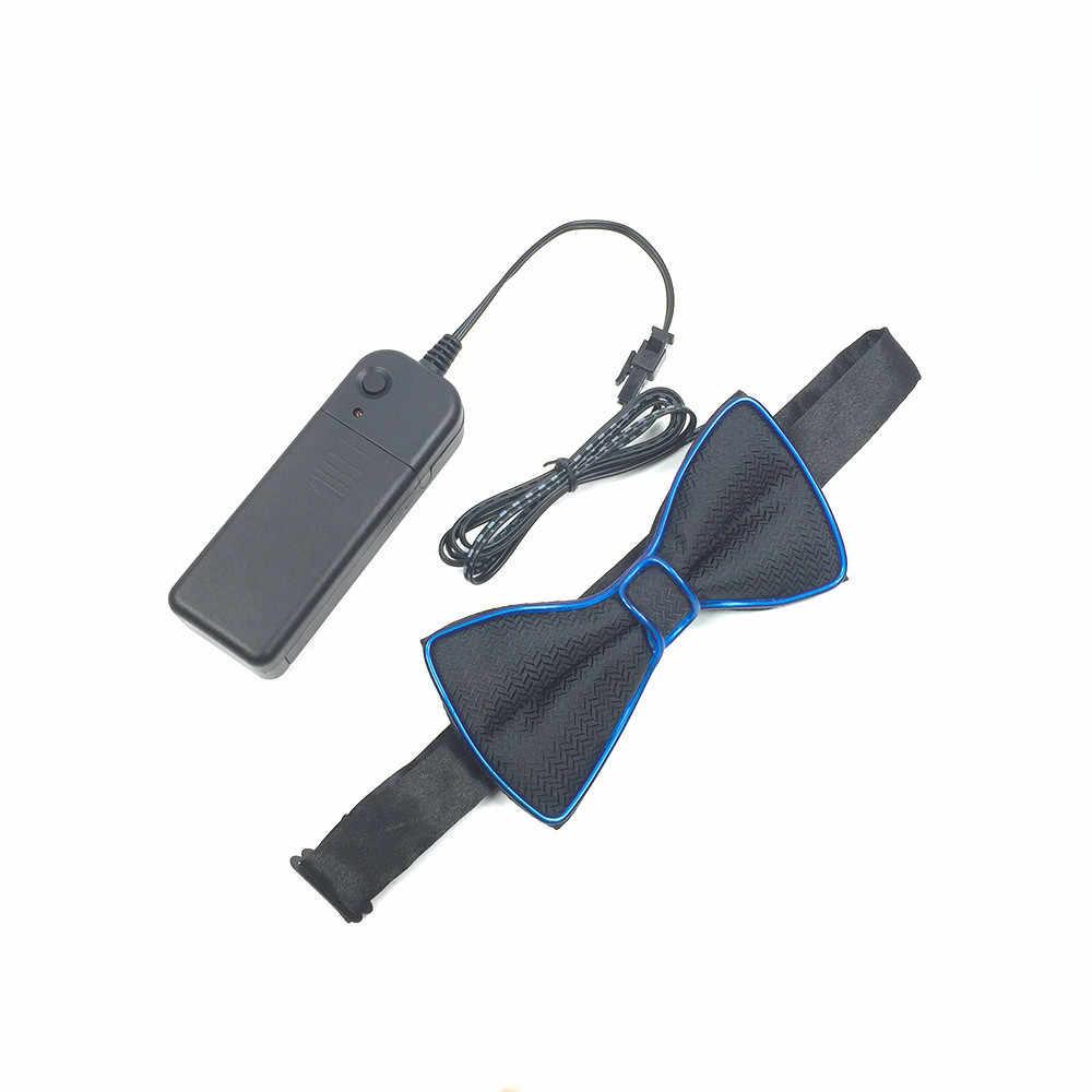 Модный мужской светодиодный светящийся светильник на Хэллоуин на шею, светодиодный мужской галстук-бабочка/неоновая Ночная жизнь для мальчиков, светодиодный мигающий свет, галстук-бабочка, игрушки